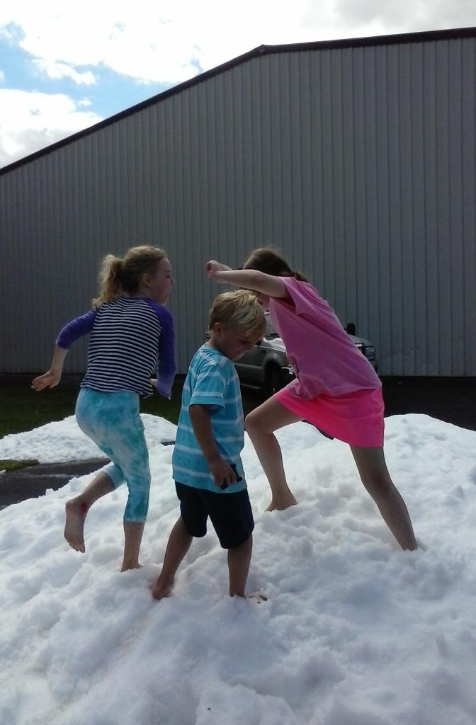 Gabrielle, Logan, and Annalise enjoy a four letter word in August!