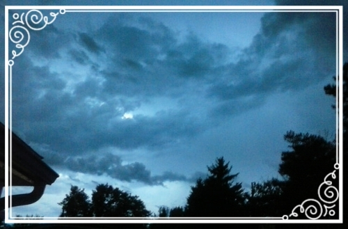 A stormy August nighttime sky - we were all peacefully inside.
