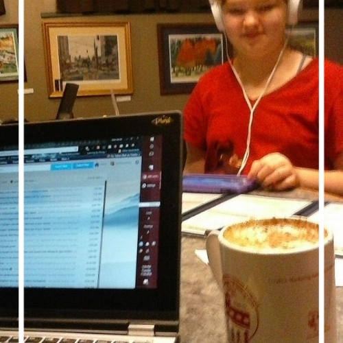 Election Night with Lise, age 12...free to attend a write-in, even if she didn't write!