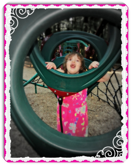 After our Lake George adventure, we stopped at a favorite playground. Lise, at 9, enjoyed playing with a spiral structure.