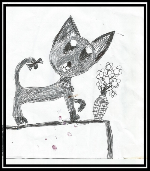 Mischievous Kitten Art; 2015.