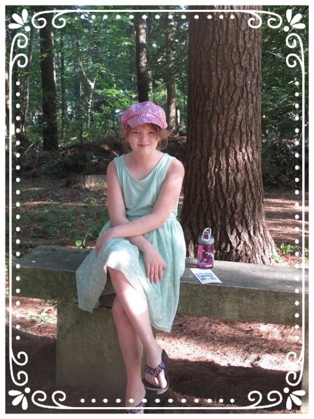 Lise, at 11, poses in the Yaddo rose garden - the natural beauty glowing in my life.